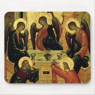 The Holy Trinity, Novgorod School, 15th century Mouse Pad