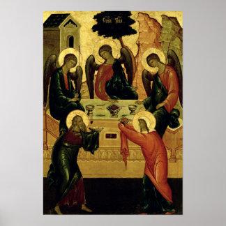 The Holy Trinity, Novgorod School, 15th century Poster