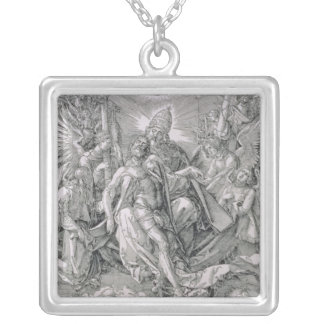 The Holy Trinity, pub. 1511 Square Pendant Necklace