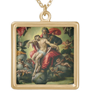 The Holy Trinity Square Pendant Necklace
