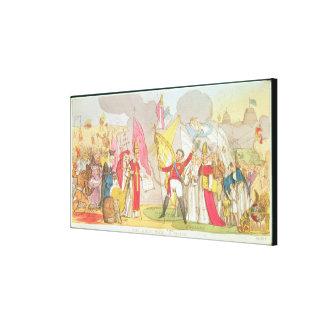 The Holy War - A Vision, satirical cartoon Canvas Print