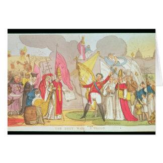 The Holy War - A Vision, satirical cartoon Greeting Card