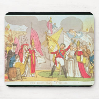 The Holy War - A Vision, satirical cartoon Mouse Pad