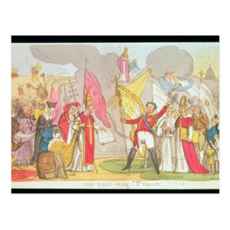 The Holy War - A Vision, satirical cartoon Postcard