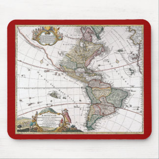 The Homanns Heirs Map of The Americas Mouse Pad