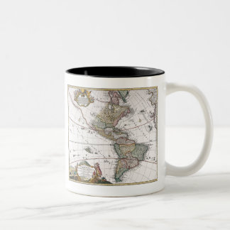 The Homanns Heirs Map of The Americas Two-Tone Coffee Mug