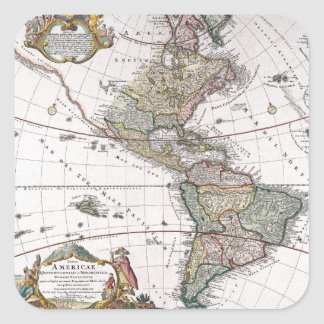 The Homanns Heirs Map of The Americas Stickers
