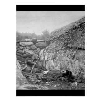 The Home of a Rebel Sharpshooter, Gettysbury, July Poster