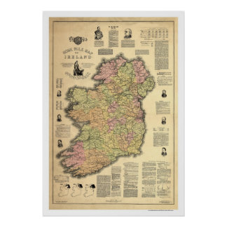 The Home Rule of Ireland by Ballance 1893 Poster