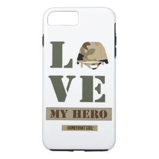 "The Homefront Girl™ Brand ""Love MY Hero"" design iPhone 8 Plus/7 Plus Case"