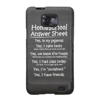 The Homeschool Answer Sheet Galaxy SII Cases