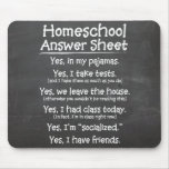 The Homeschool Answer Sheet Mouse Pad