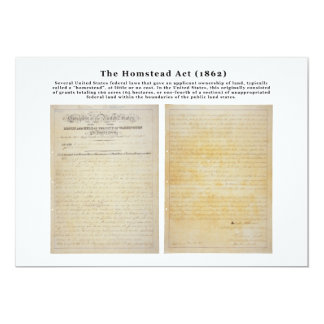 The Homestead Acts Card