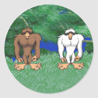 THE HOMINIDS CLASSIC ROUND STICKER