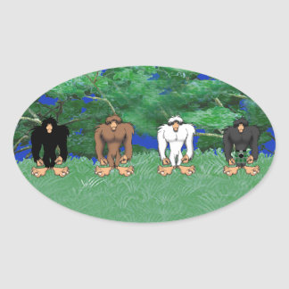 THE HOMINIDS OVAL STICKER