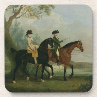 The Hon. Marcia Pitt Riding with her Brother, the Beverage Coasters