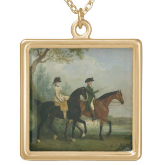 The Hon. Marcia Pitt Riding with her Brother, the Gold Plated Necklace