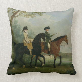 The Hon. Marcia Pitt Riding with her Brother, the Throw Pillows