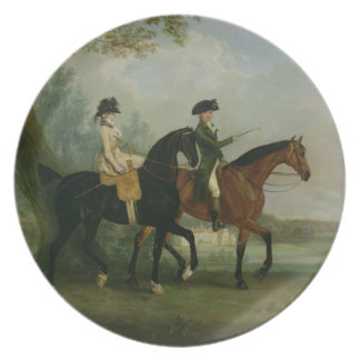 The Hon. Marcia Pitt Riding with her Brother, the Dinner Plate
