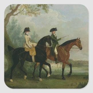 The Hon. Marcia Pitt Riding with her Brother, the Square Sticker