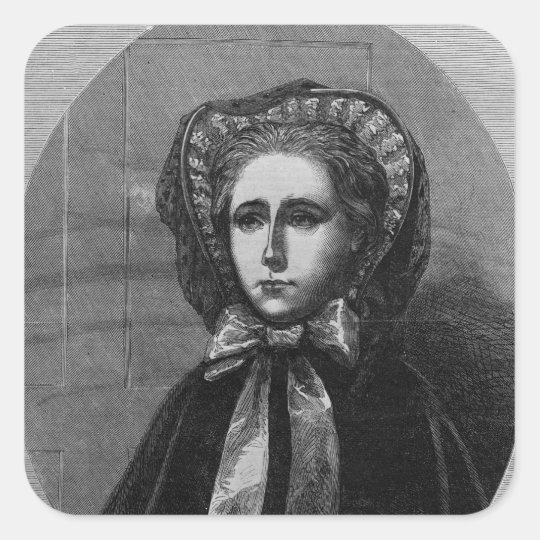 The Hon. Mrs Yelverton, 1861 Square Sticker