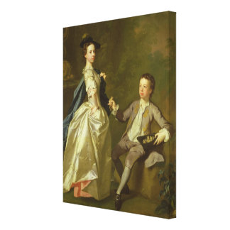 The Hon. Rachel Hamilton and her brother Canvas Print