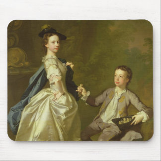 The Hon. Rachel Hamilton and her brother Mouse Pad