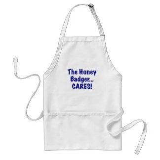 The Honey Badger Cares Adult Apron