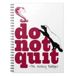 The Honey Badger Spiral Notebook