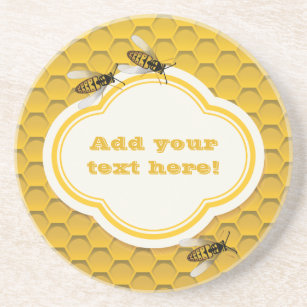 The Honeycomb and Bees Sandstone Coaster