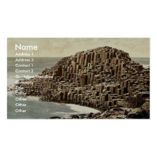 The Honeycombs Giant s Causeway Co Antrim Irel Business Card Template