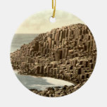 The Honeycombs, Giant's Causeway, Co Antrim Double-Sided Ceramic Round Christmas Ornament