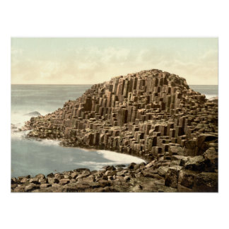 The Honeycombs, Giant's Causeway, County Antrim Poster