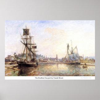 The Honfleur Sea port by Claude Monet Poster