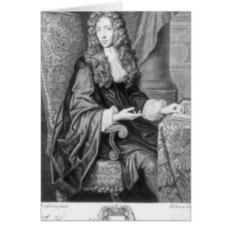 The Honorable Robert Boyle engraved by B. Baron Card