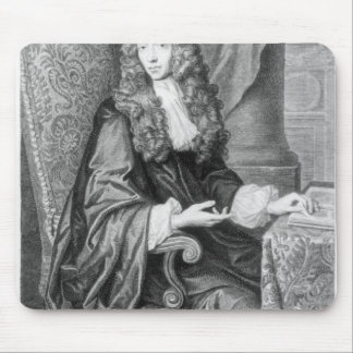The Honorable Robert Boyle engraved by B. Baron Mouse Pad