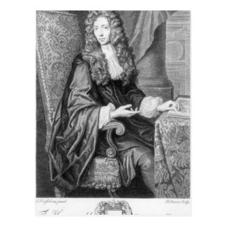 The Honorable Robert Boyle engraved by B. Baron Postcard