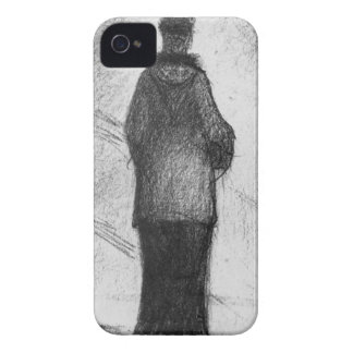 The hood by Georges Seurat iPhone 4 Cases