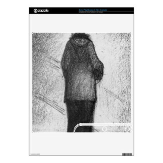 The hood by Georges Seurat Decal For PS3 Slim