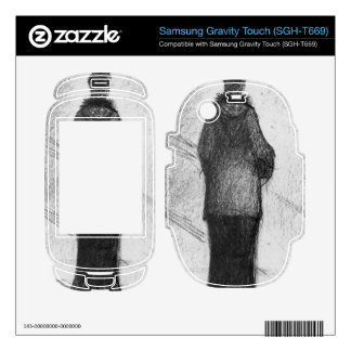 The hood by Georges Seurat Samsung Gravity Touch Skins