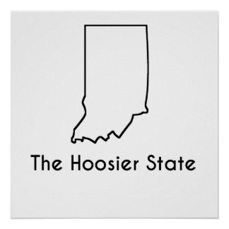 The Hoosier State Poster