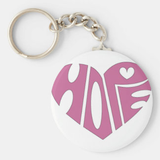 The Hope Heart Basic Round Button Keychain