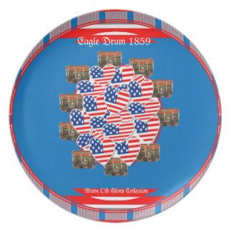 The Hopkinson Flag and Eagle Drum ~ Plates