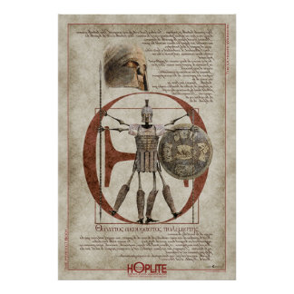 The Hoplite Tireless Warrior O Print