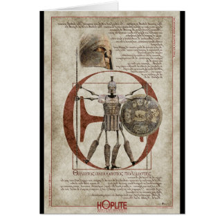 The Hoplite Tireless Warrior - Perfect Body Greeting Card