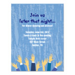 The Hora Chair Dance Bar Bat Mitzvah Party Card Custom Invites