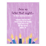 The Hora Chair Dance Bar Bat Mitzvah Party Card Personalized Announcement