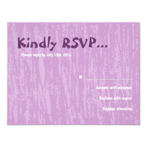 The Hora Chair Dance Bar Bat Mitzvah Reply Card Personalized Invitations