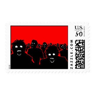 """""""The Horde"""" Zombie Postage Stamp"""