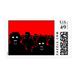 """The Horde"" Zombie Postage Stamp"